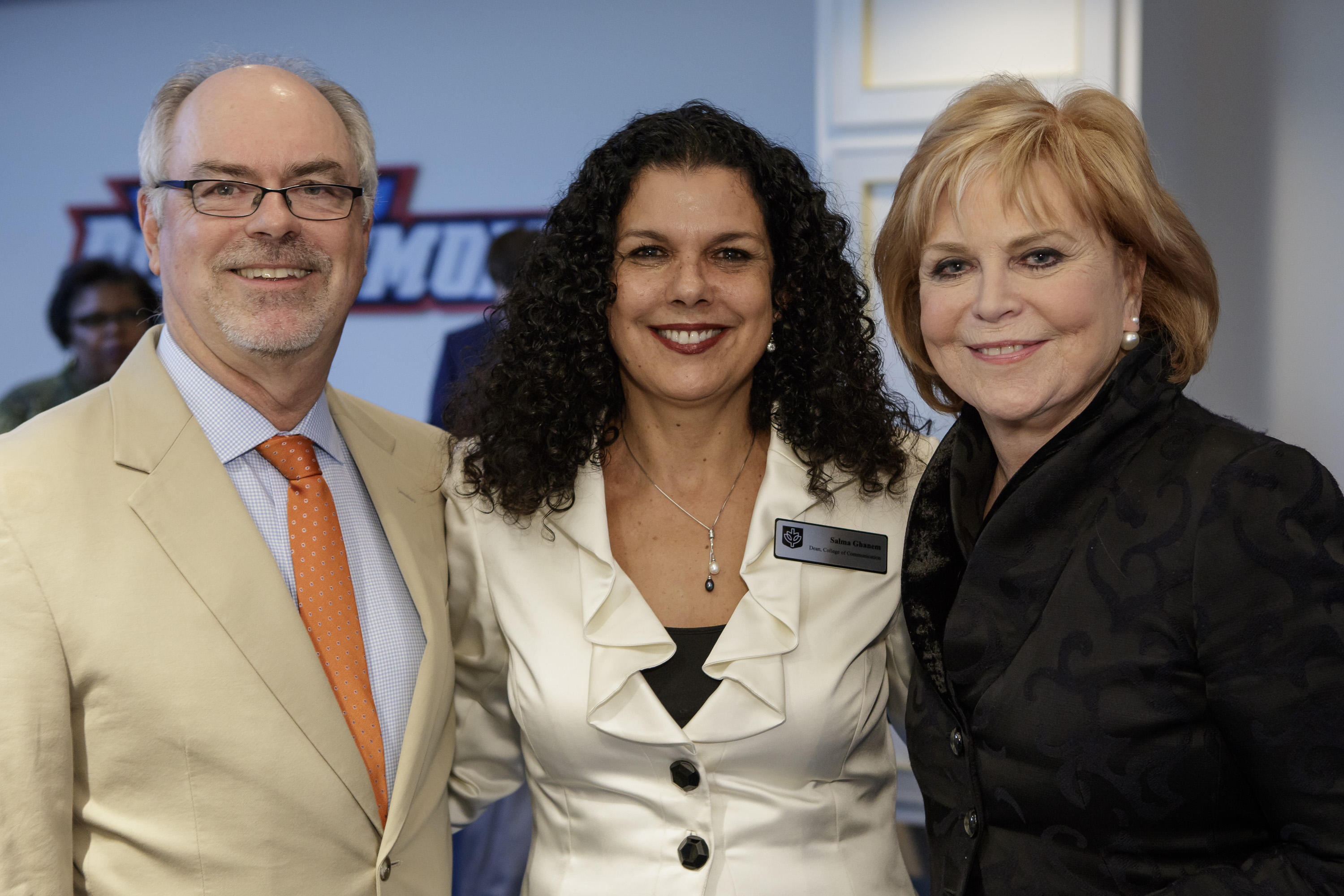 Don Moseley, Dean Salma Ghanem and Carol Marin