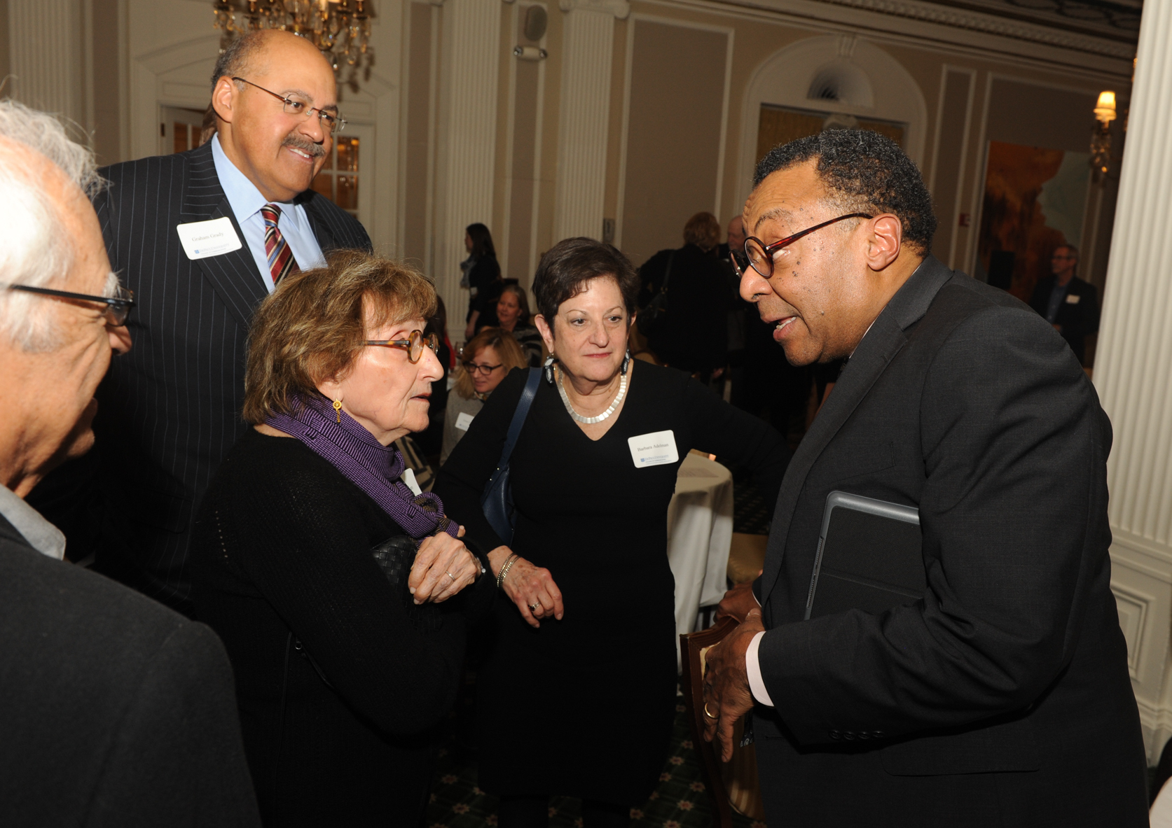 "Clarence Page speaks with guests of ""An Evening with Clarence Page"". (Photo by Paul Berg.)​"