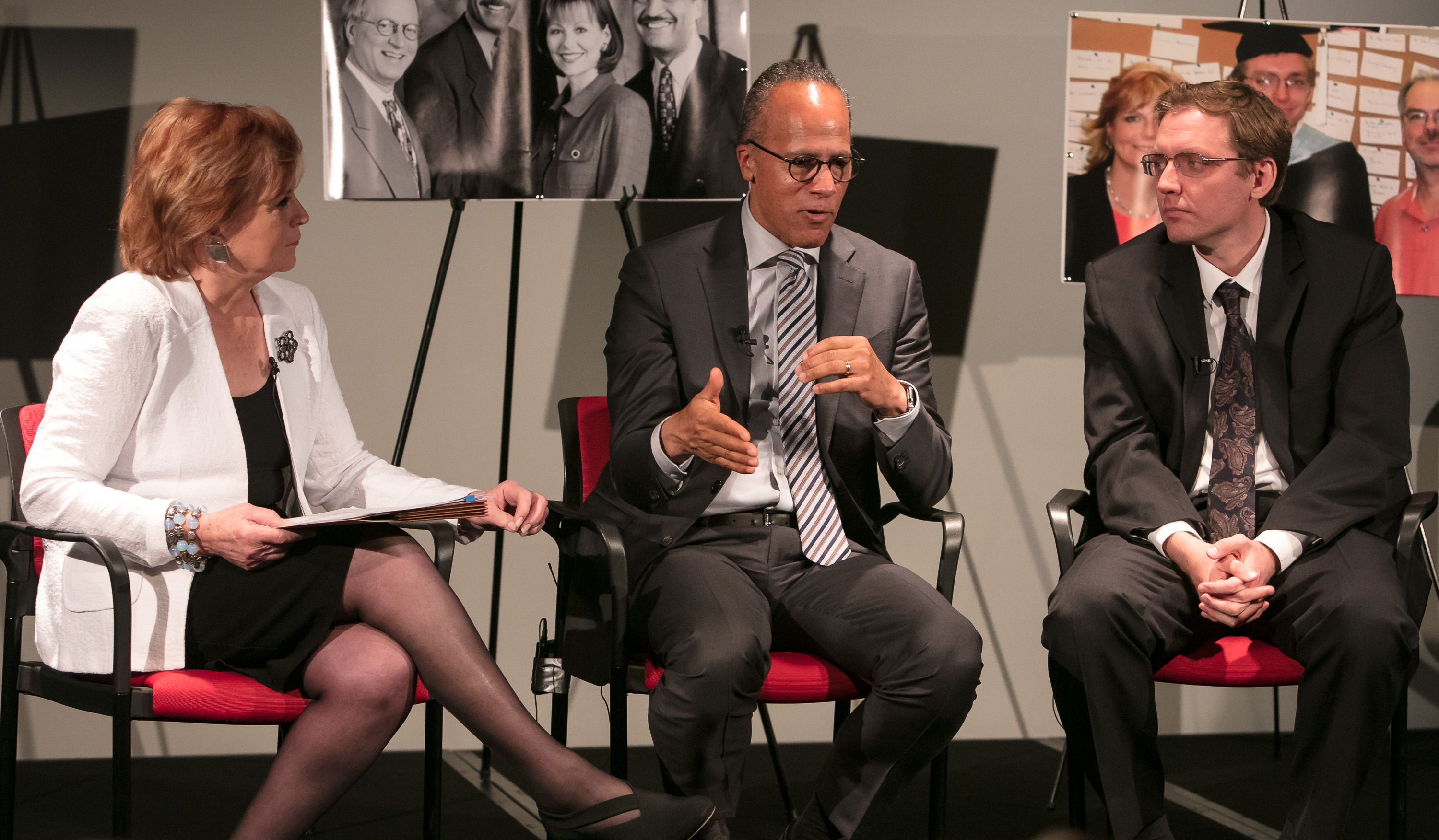 Carol Marin, Lester Holt and Ben Welsh