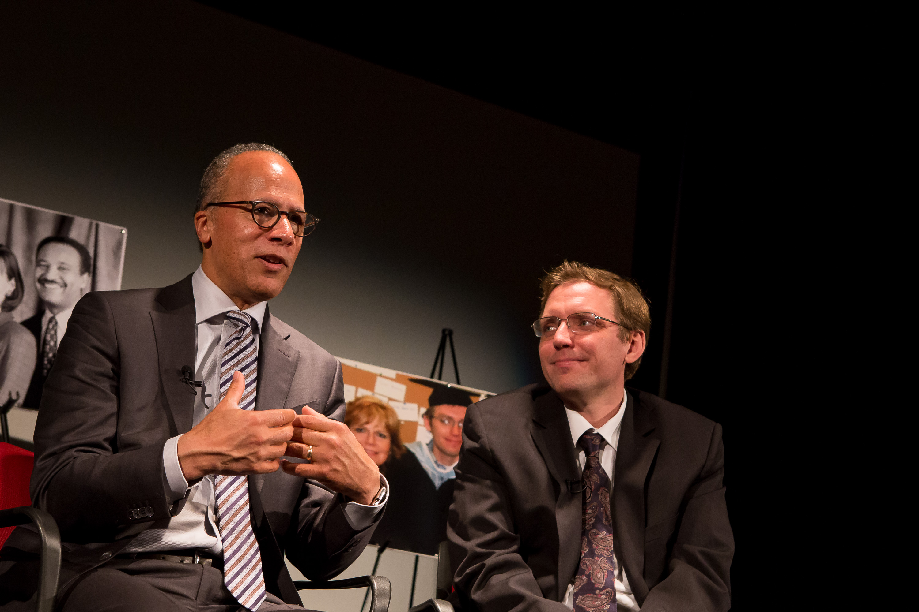 Lester Holt and Ben Welsh