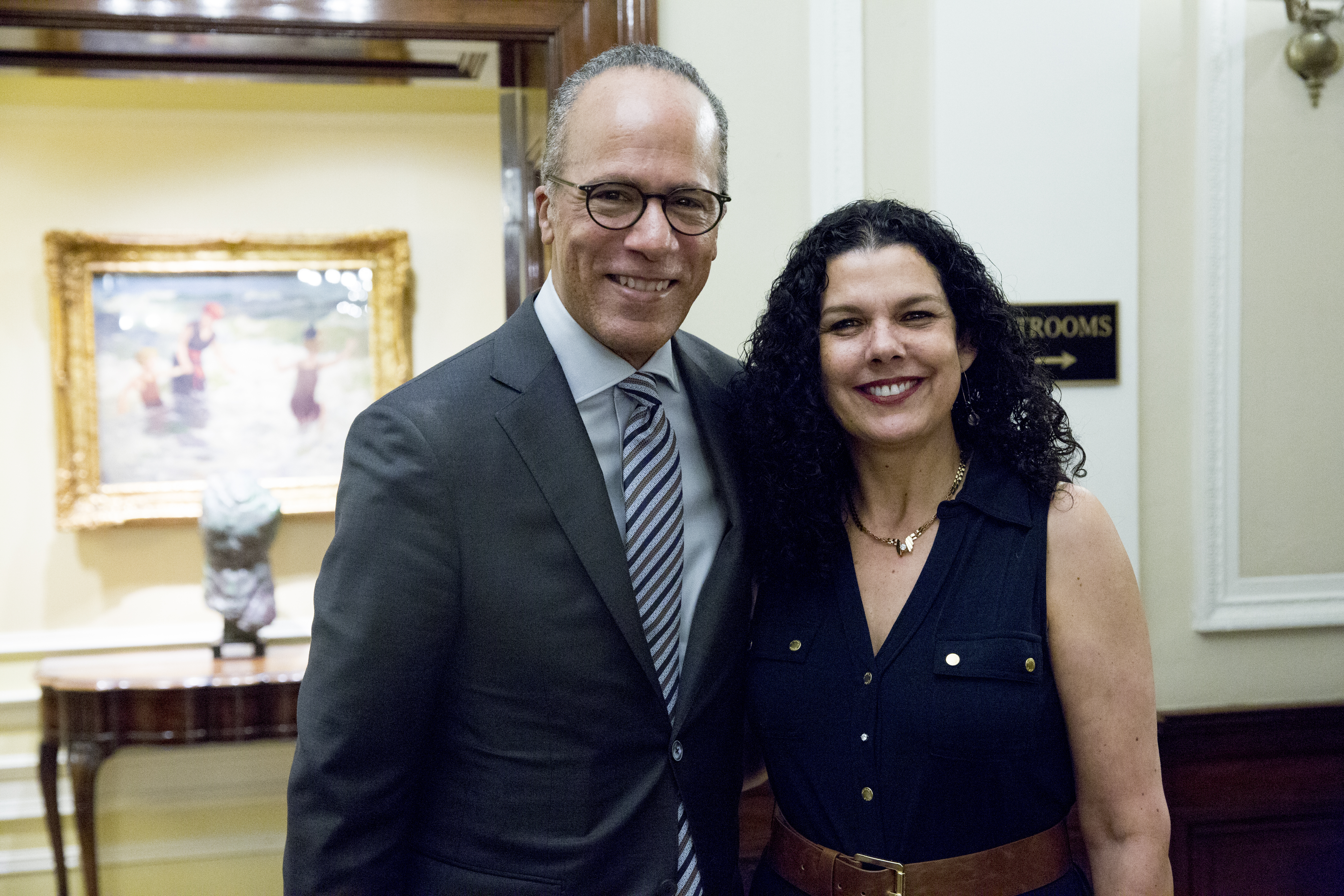 Lester Holt and Dean Salma Ghanem.