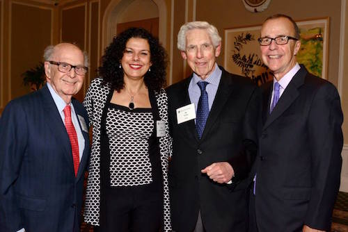 Pictured (L-R) Harold Burson, Salma Ghanem, Al Golin, and Ron Culp.
