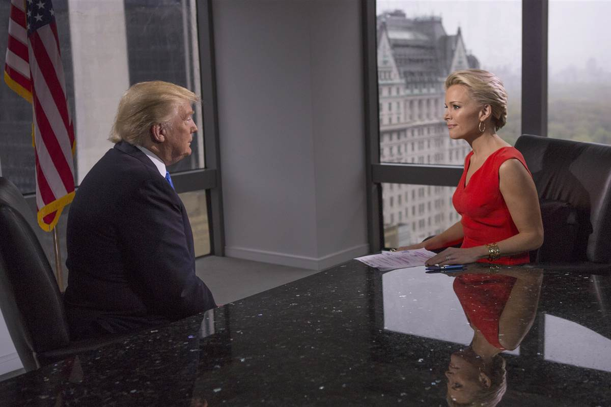 Donald Trump and Fox News' Megyn Kelly