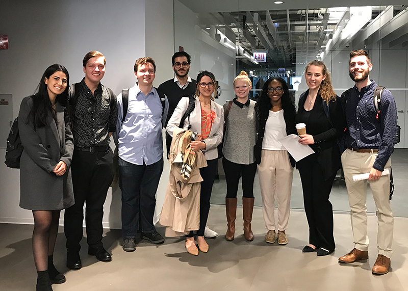 Students tour the Ketchum office