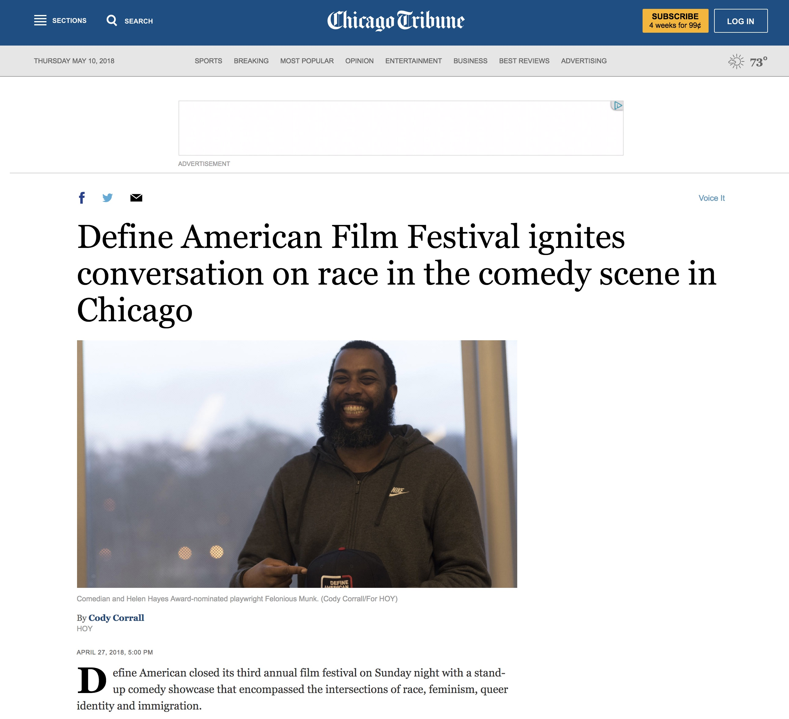 Hoy/Chicago Tribune Student Articles