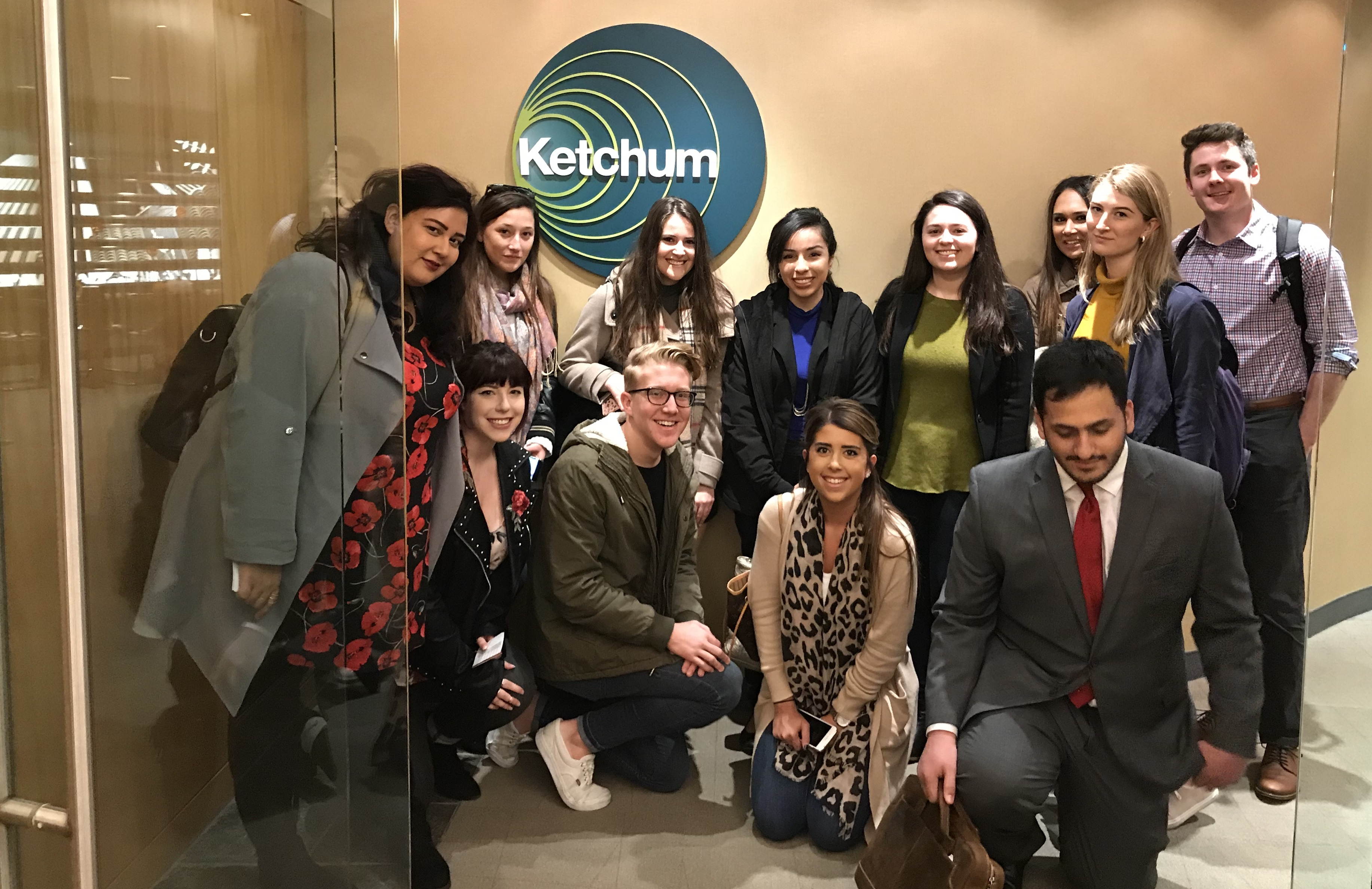 International Public Relations Class visiting Ketchum's offices