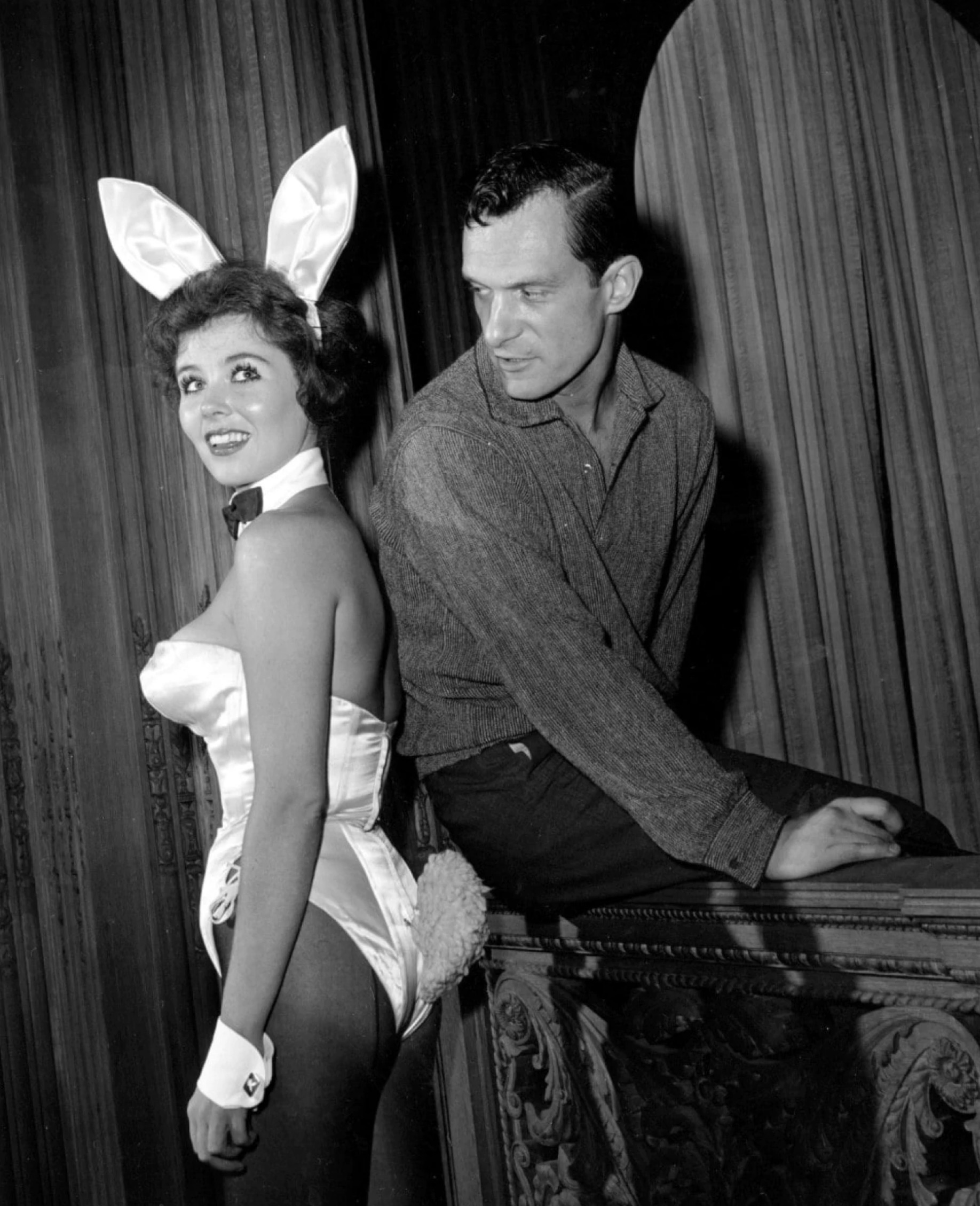 Hugh Hefner and a 'Playboy Bunny'