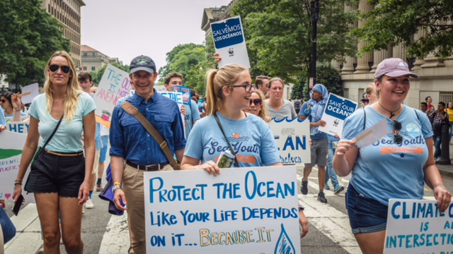 Baylee Ritter at March for the Ocean