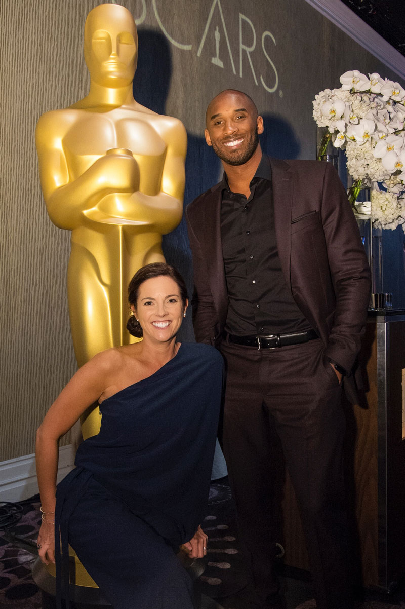 Molly Carter and Kobe Bryant