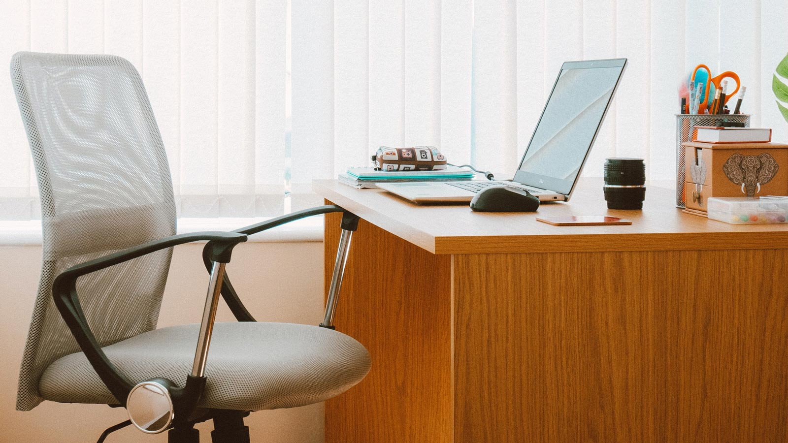 Office chair at desk